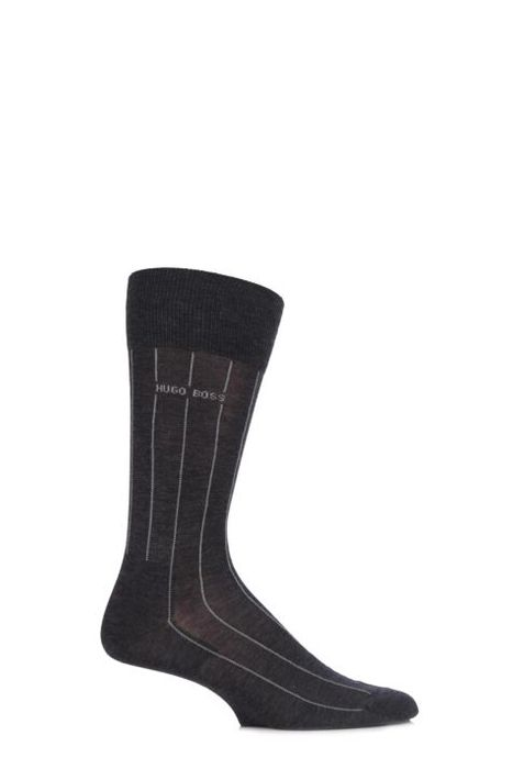 Boss George 80% Mercerised Cotton Pinstriped Socks
