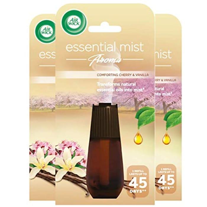 Airwick Air Freshener Essential Mist Aroma Refill Comforting Cherry & Vanilla