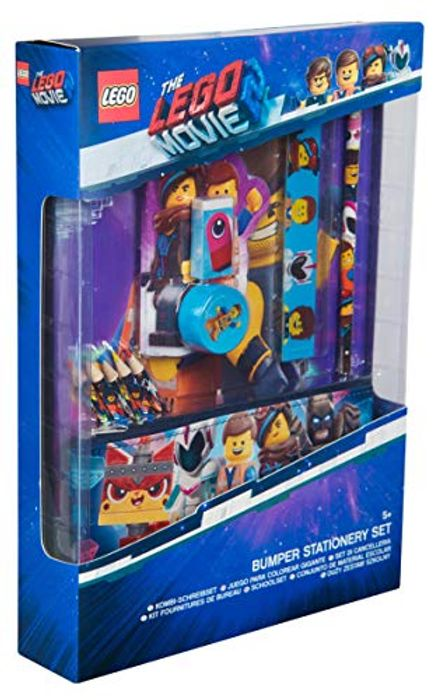 Lego Movie 2 Stationery Set for for Kids - Notepad Pencil Case Colouring Pencils