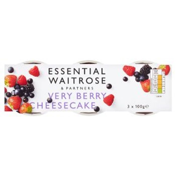 Essential Very Berry Cheesecakes3x100g