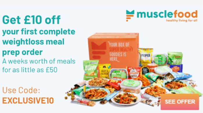 Get £10 Off Your First Complete Weight Loss Meal Prep Order