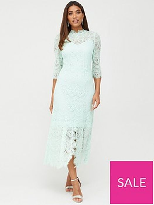 V by Very Lace Midaxi Dress - Mint