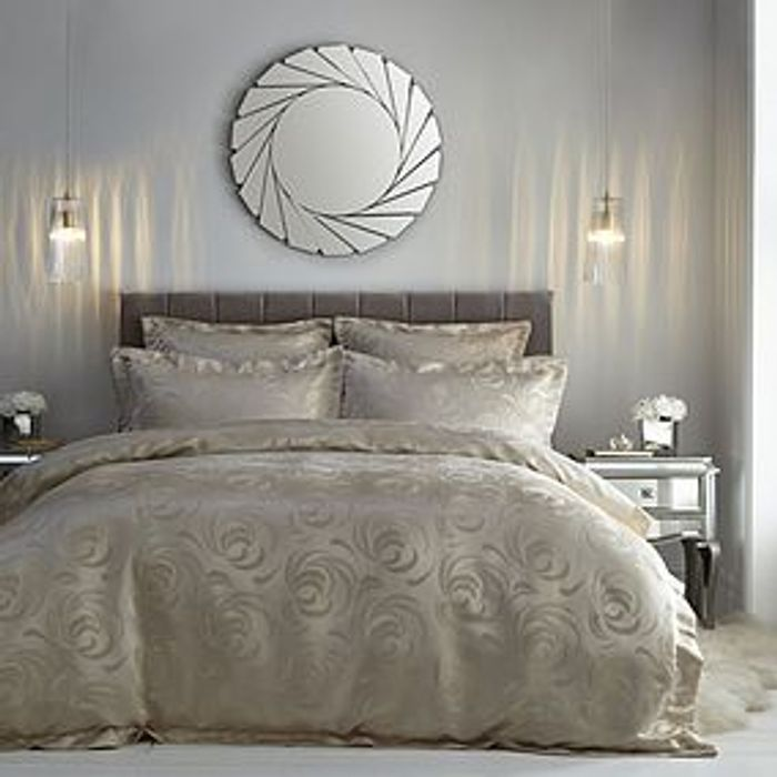 5th Avenue King Size Duvet Cover - Champagne HALF PRICE