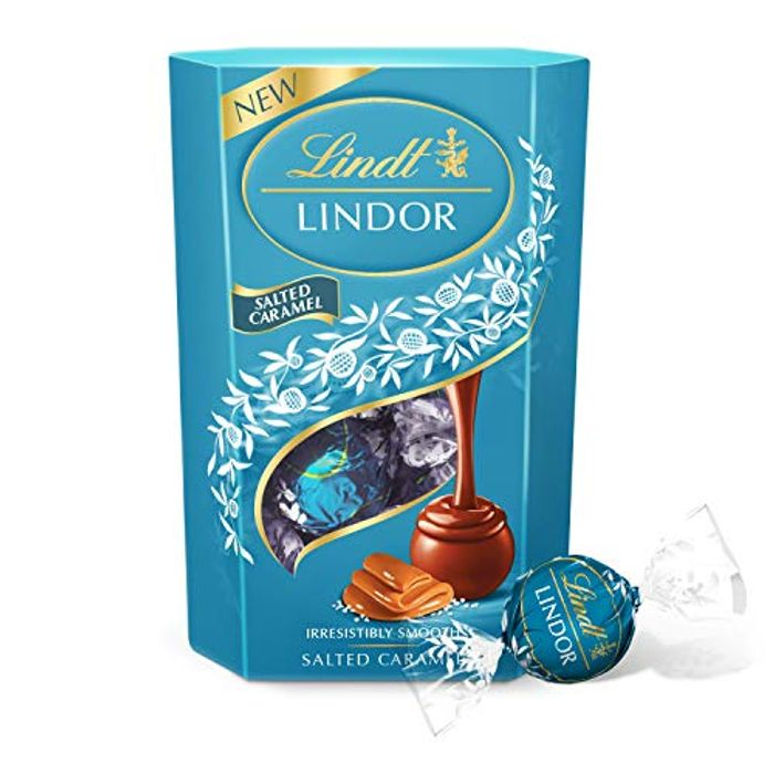 Lindt Salted Caramel free del with prime at Amazon