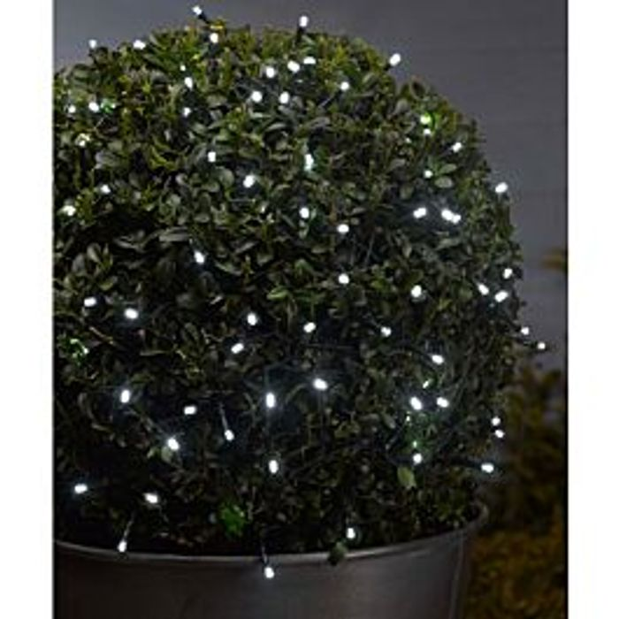 Smart Solar 100 LED Solar-Powered String Lights - White