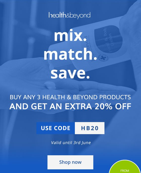 Extra 20% off Our Health & beyond Range