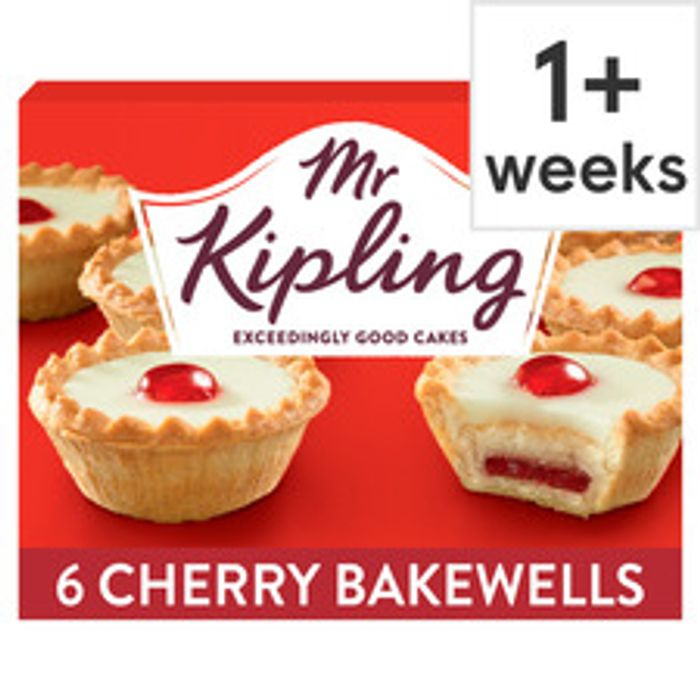 Cheap Mr Kipling Cherry Bakewells 6 Pack - Only £0.85!