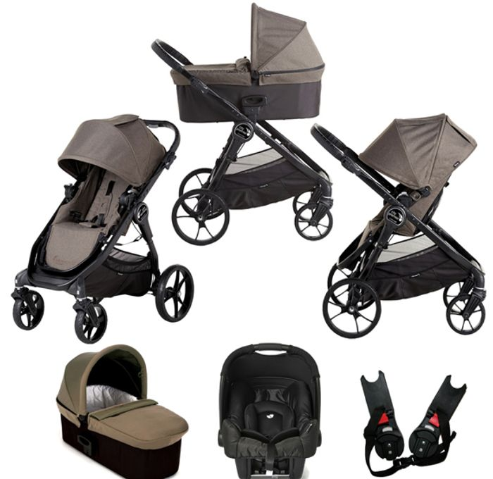 Pre Order Baby Jogger City Premier (Gemm) Travel System with Carrycot - Taupe