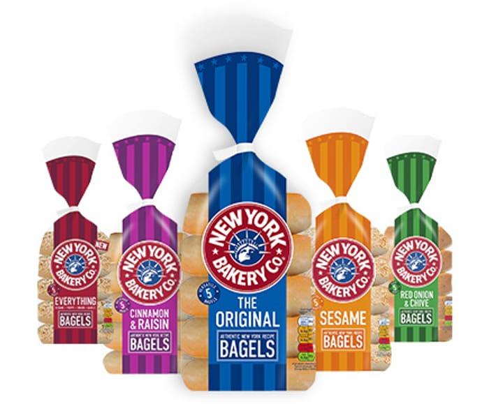 New York Bakery Bagels 5 Pack All Varieties