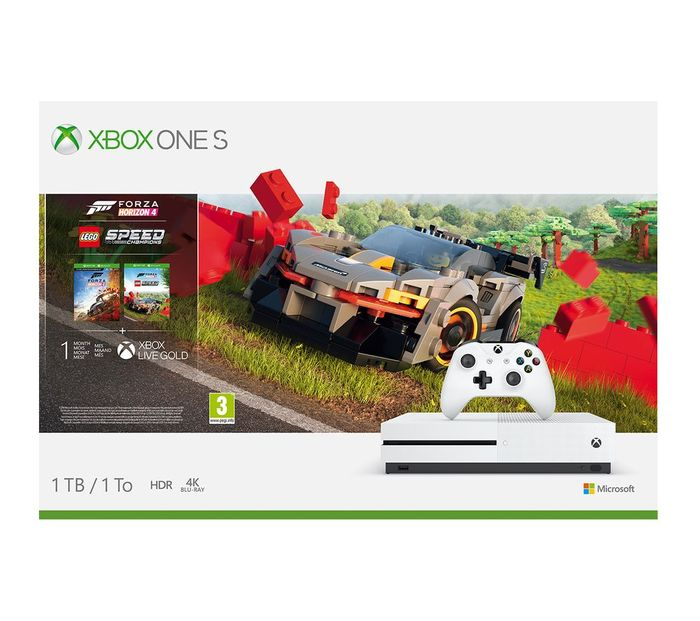 Cheap MICROSOFT Xbox One S with Forza Horizon 4 & LEGO Speed Champions Only £249