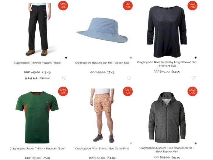Up to 70% off Craghoppers Clearance at Hawkshead