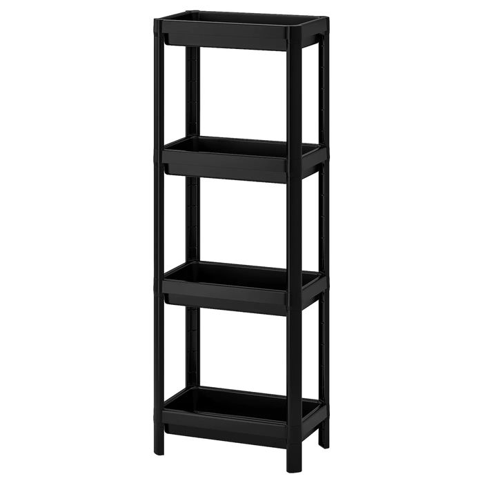 Cheap VESKEN Shelf Unit, Black, 36x23x100 Cm Only £8