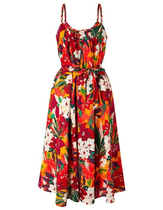 Alaska Printed Dress in Organic Cotton