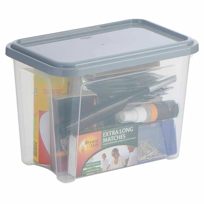 Cheap Modular 5.6l Stackable Storage Box with Lid Only £2!
