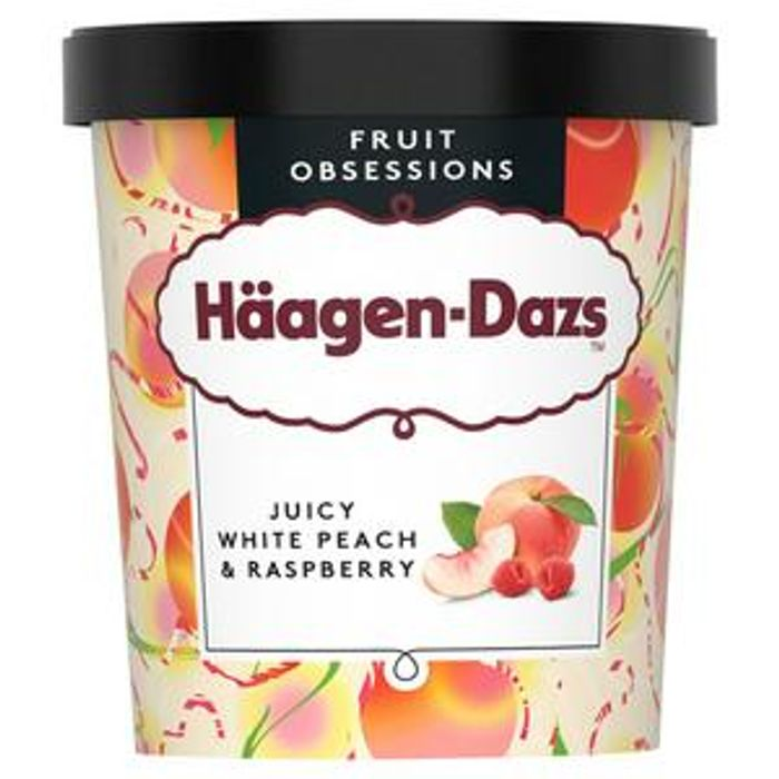 NEW FLAVOUR Hagen-Dazs Peach & Raspberry Ice Cream 460ml