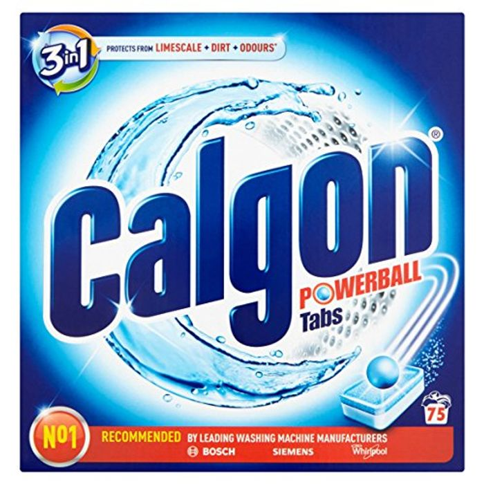 Calgon 2-in-1 Anti-Limescale Protection and Cleaning Tabs 75 Tabs