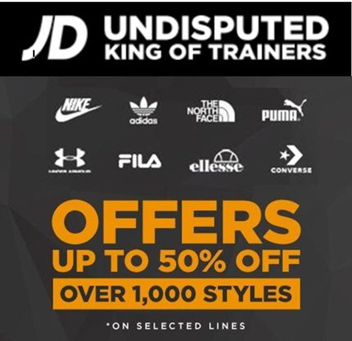 JD Sports Sale - up to 50% off - Nike, Adidas, Under Armour - OFFERS