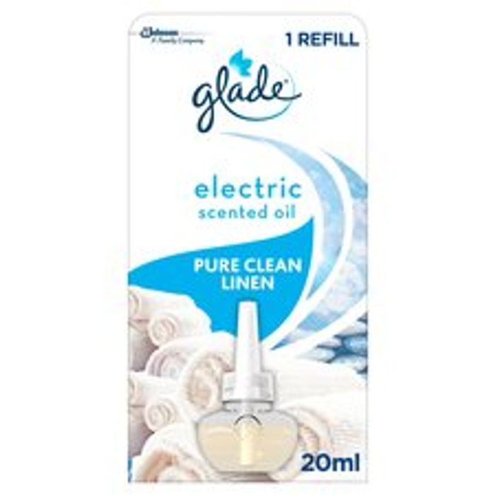 Glade Electric Scnted Oil Pure Clean Linen 20Ml