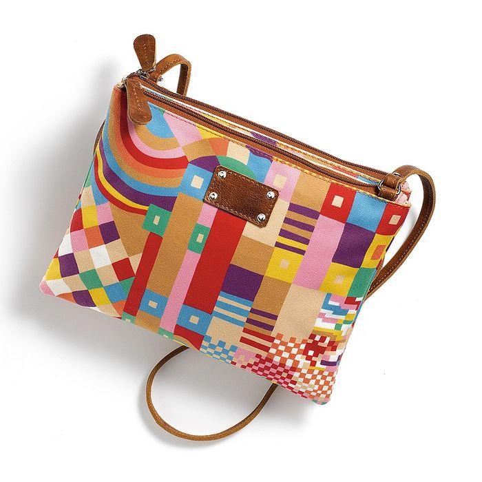 Abstract Cross-Body Bag
