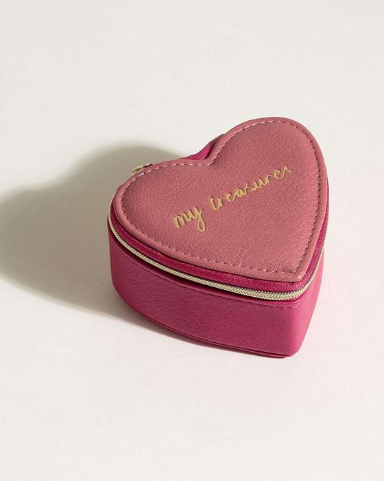 Heart Travel Jewellery Box, Only £5.00!