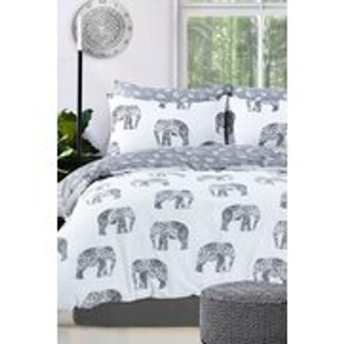 Elephant Reversible Duvet Set - Double