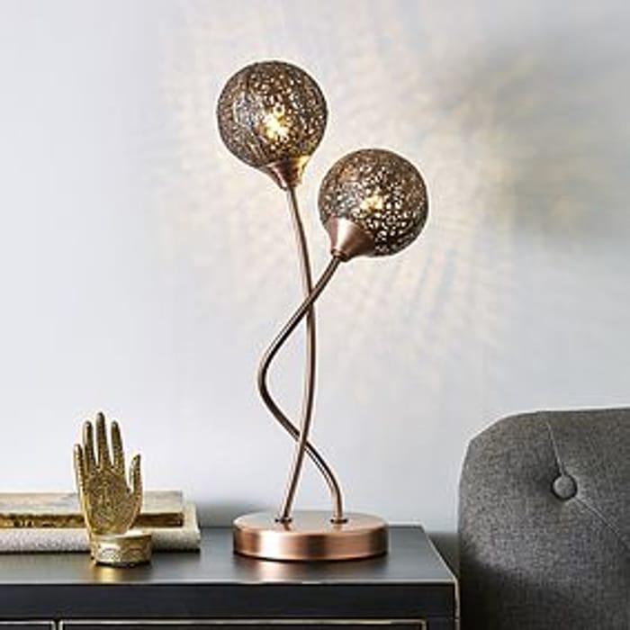 Allie 2 Arm Bronze Table Lamp HALF PRICE
