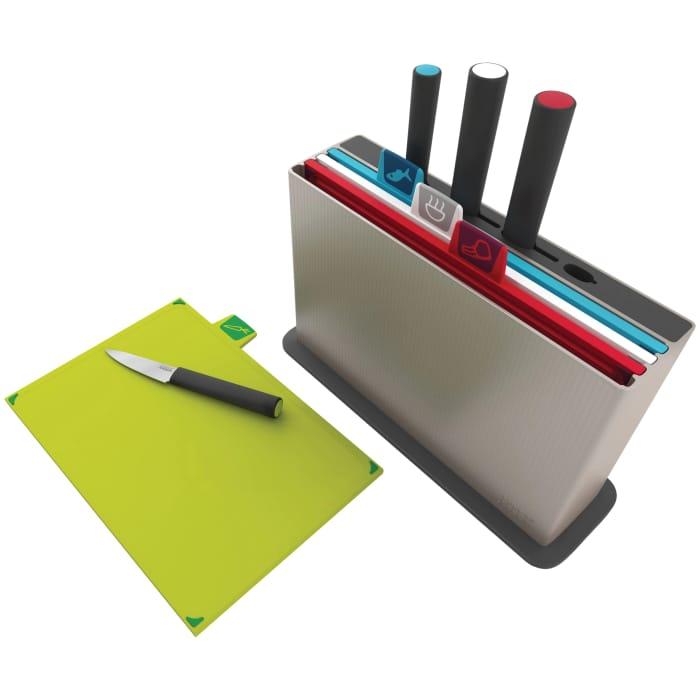 Joseph Joseph Index 4 Chopping Boards / Filled Knife Block, 4 Piece