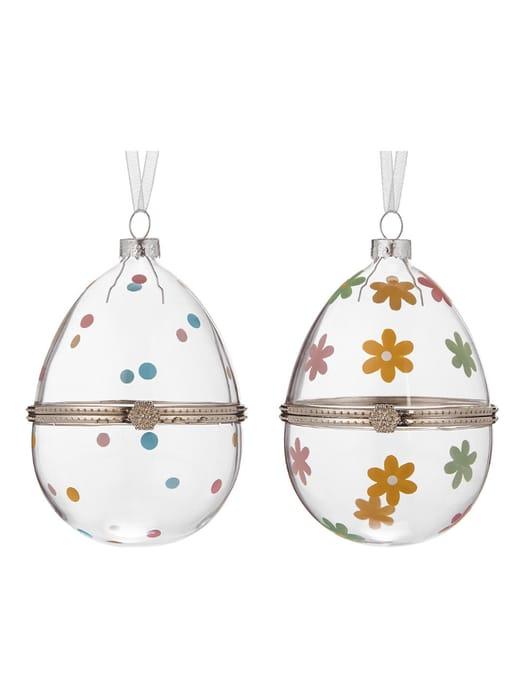 John Lewis & Partners Hinged Hanging Glass Egg