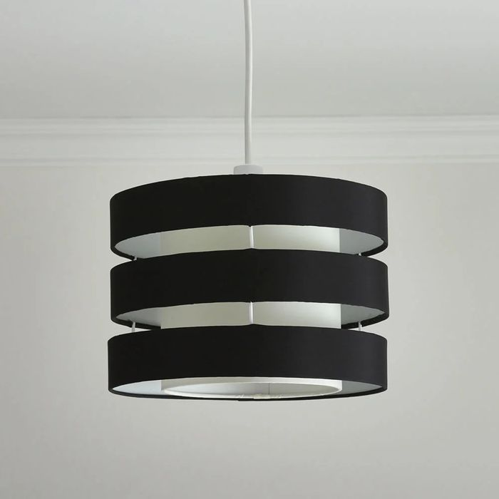 Wilko Double Layer Black and White Light Shade
