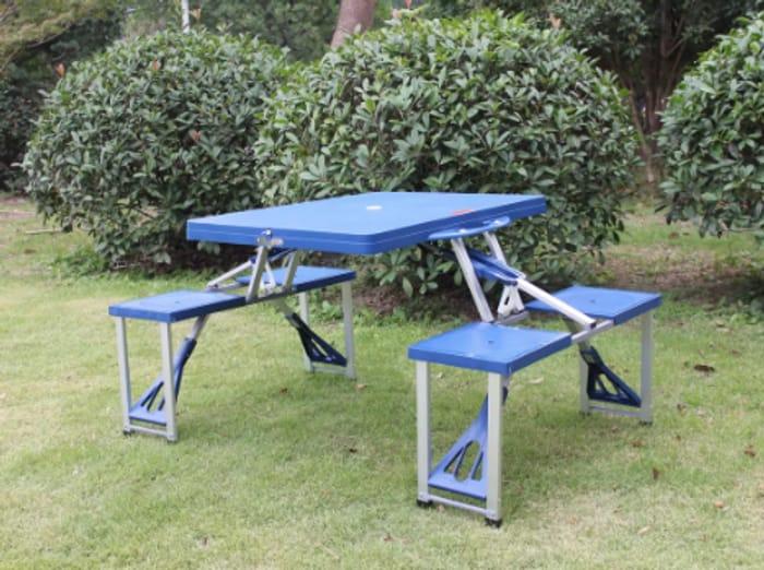 Folding Picnic Table & 4 Stools - £29.99