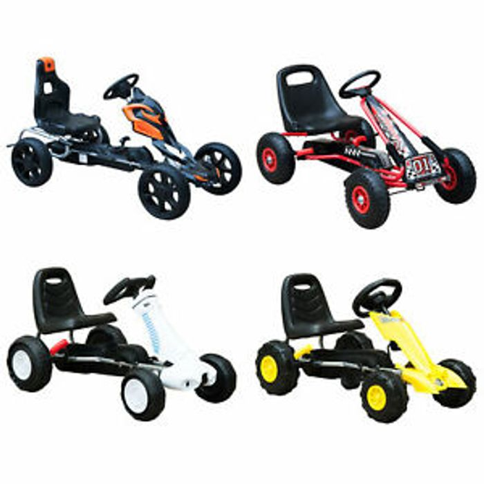 Kids Pedal Go Cart Children Outdoor Ride-on Car Racing Toy Only £37.59