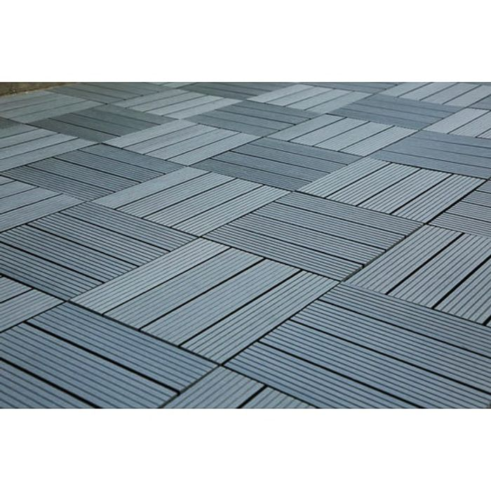 Composite Decking Tiles 4pk - Grey