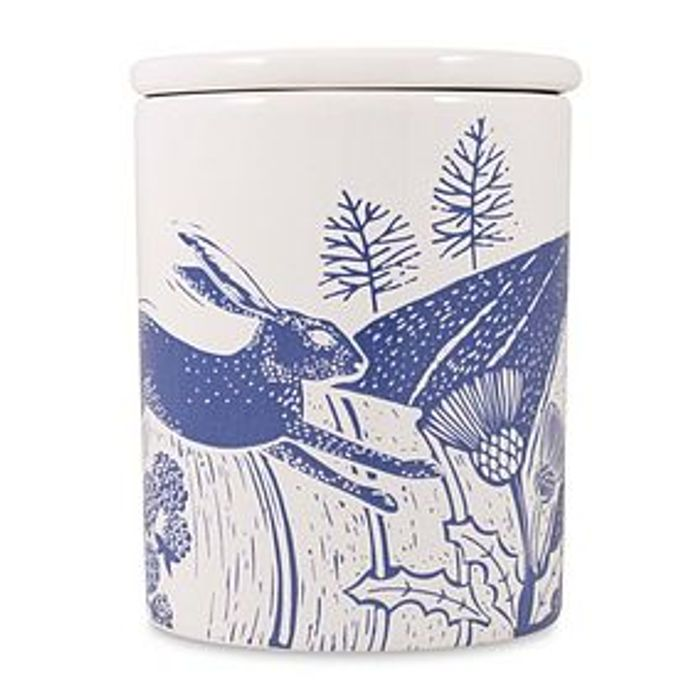 Woodland Blue Hare Canister at Dunelm