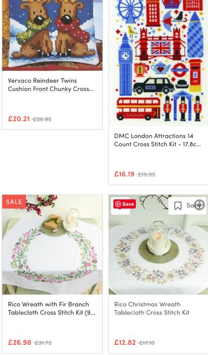 Embroidery and Cross Stitch Savings