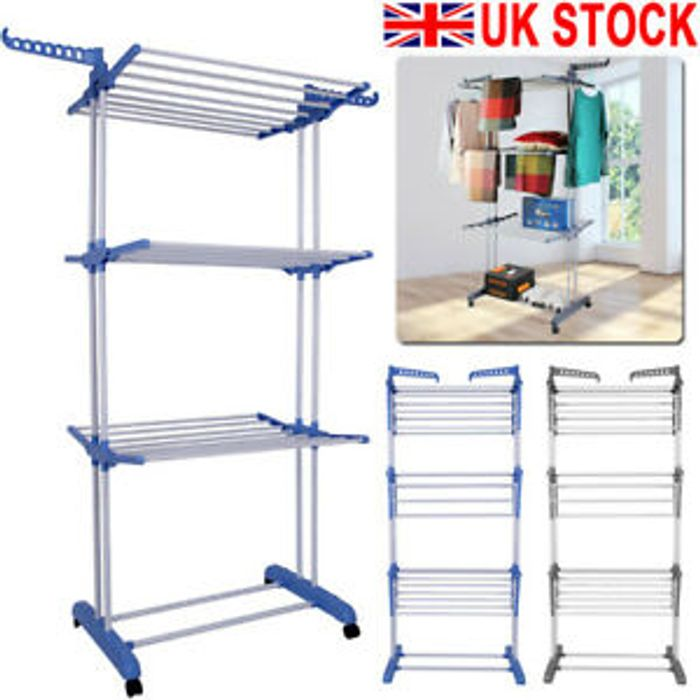 Cheap 3 Tier Clothes Airer Rack Only £17.99!