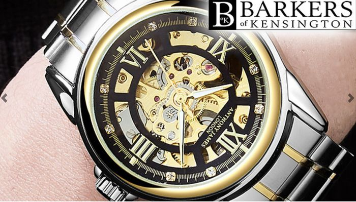 Hand Assembled Anthony James Limited Edition Men's Skeleton Watch - 2 Colours