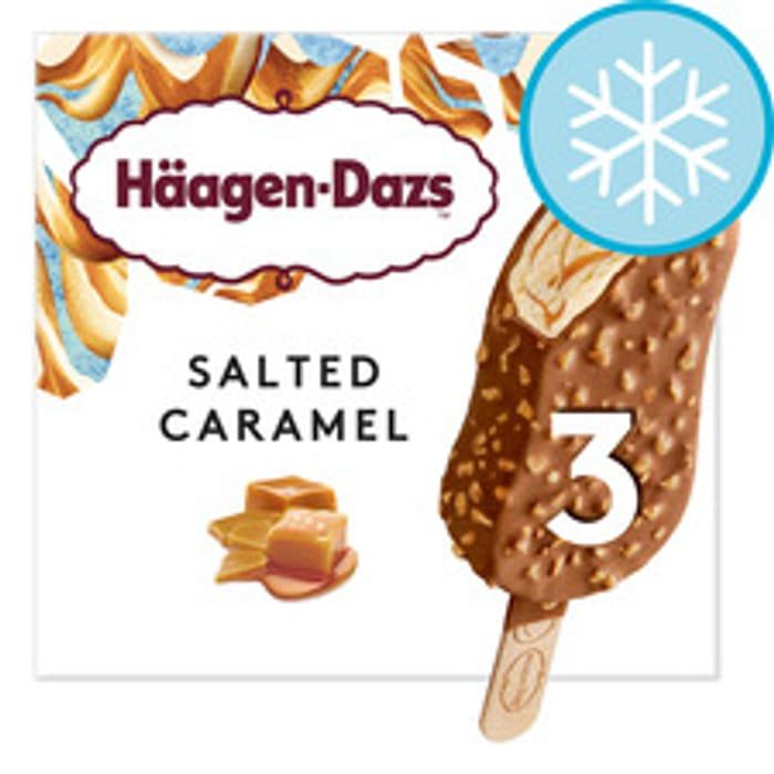 Haagen Dazs Salted Caramel/Peanut Butter Crunch/Mango & Raspberry
