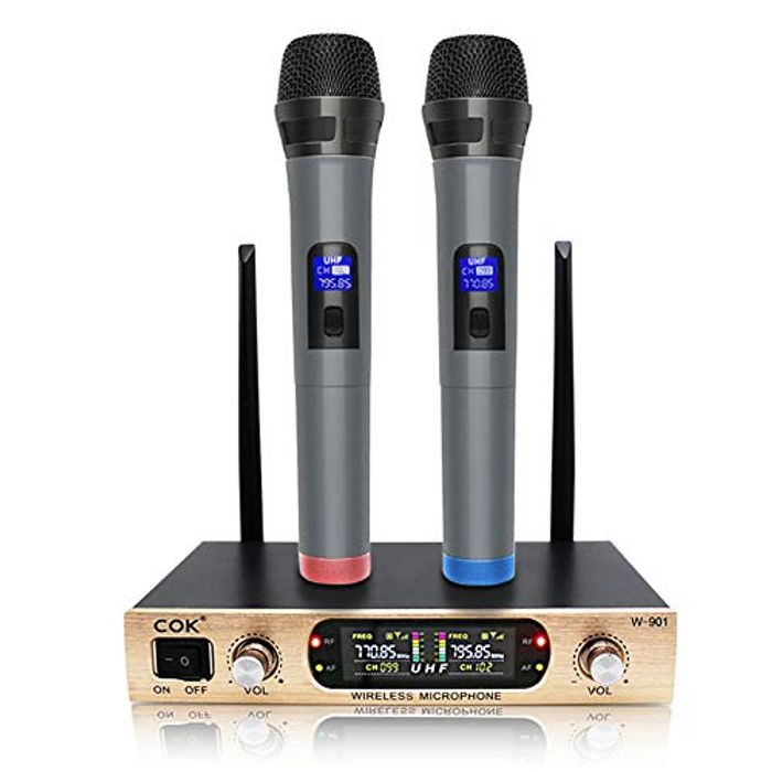 Wireless Microphone, Professional Karaoke Microphone Set System