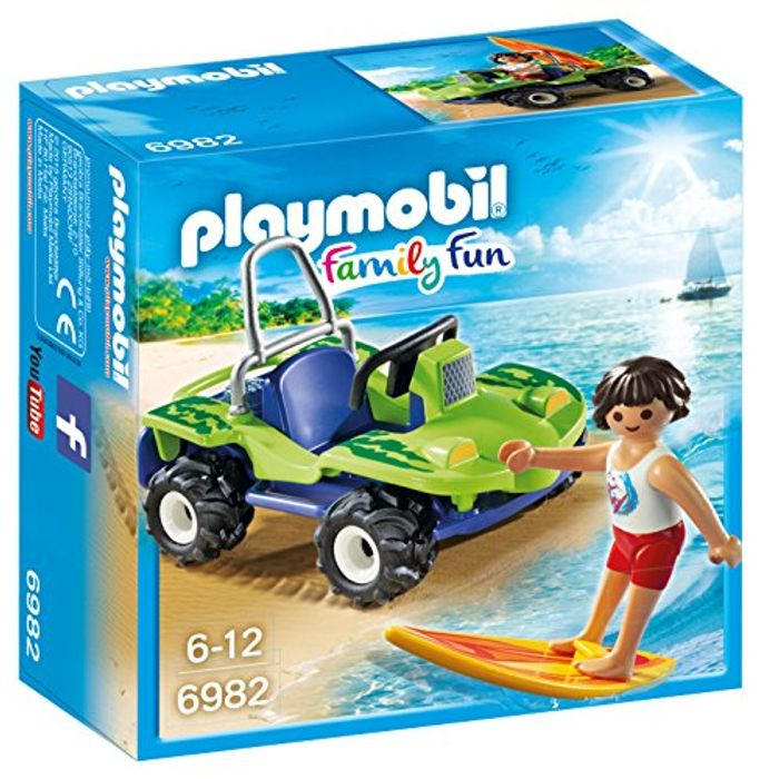 Cheap Playmobil 6982 Family Fun Surfer with Beach Quad Only £7.99