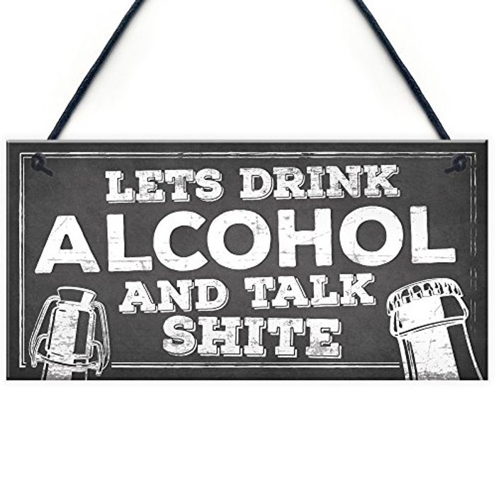 RED OCEAN Novelty Funny Alcohol Sign Gin Vodka Beer Gift Free P&p