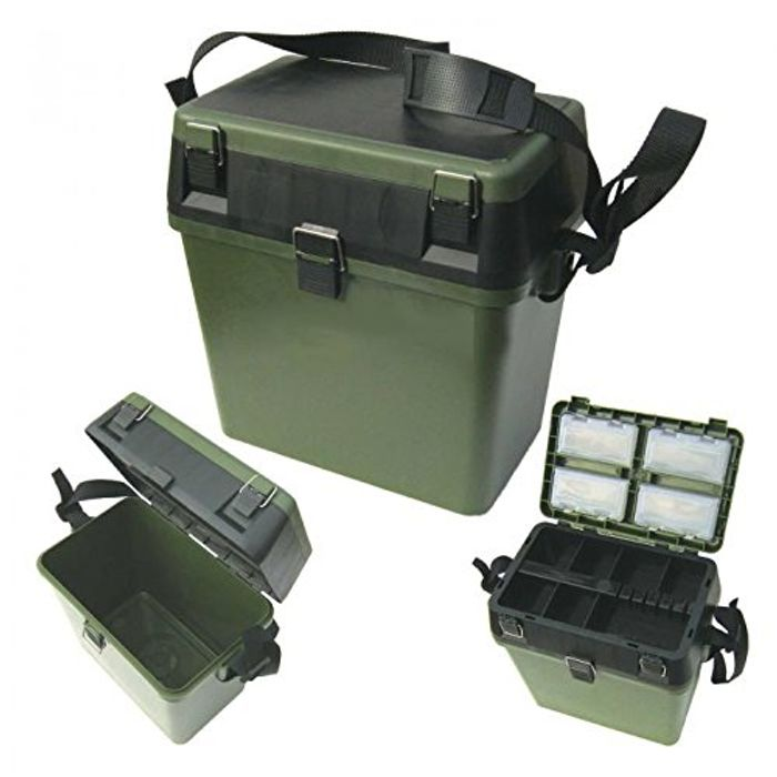 *SAVE over £20* Fishing Seat & Tackle Box - with Shoulder Strap - Green