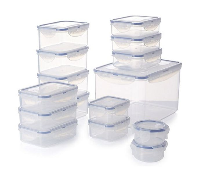 Lock & Lock 15 Piece Assorted Airtight Food Storage Containers