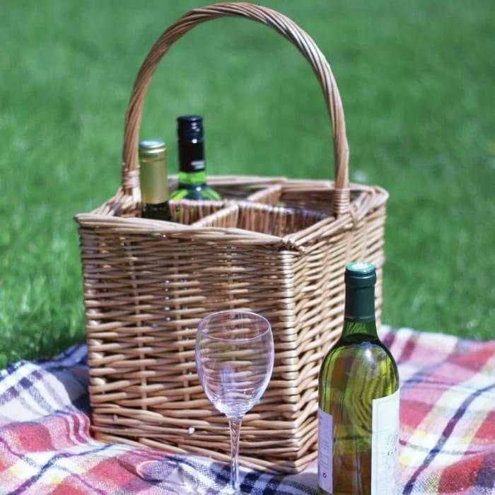 Crete 4 Bottle Tabletop Wine Holder - Save £4