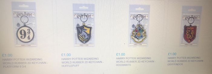 Harry Potter Wizards World Rubber 2D Keyring (£2.99 Post for Unlimited Items)