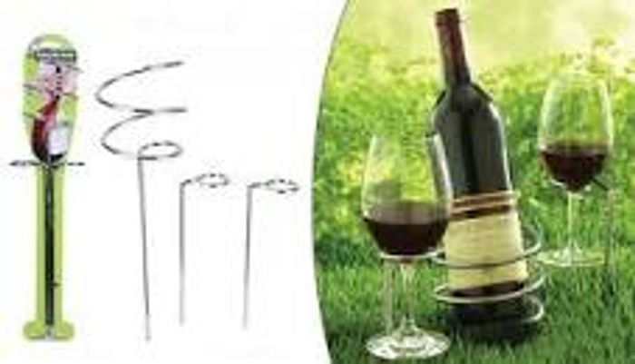 Garden Picnic Bottle and Glass Holders - Only £5.99!