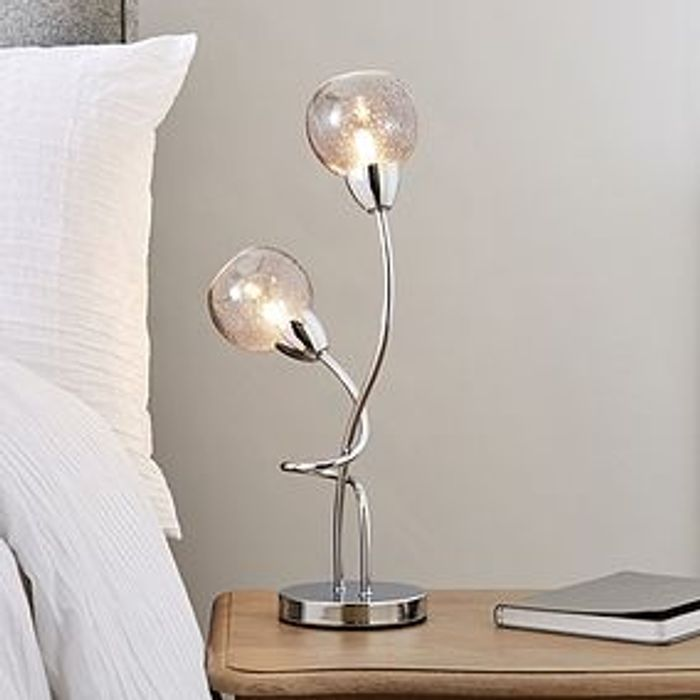 Kelly Bubble Glass 2 Light Table Lamp HALF PRICE