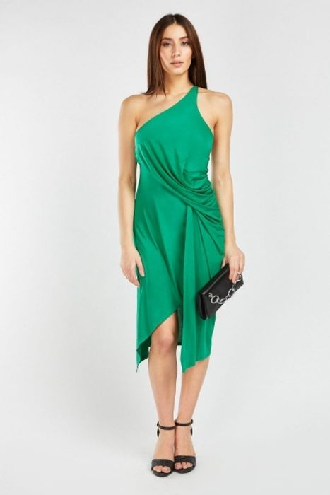 Draped One Shoulder Ruched Dress HALF PRICE