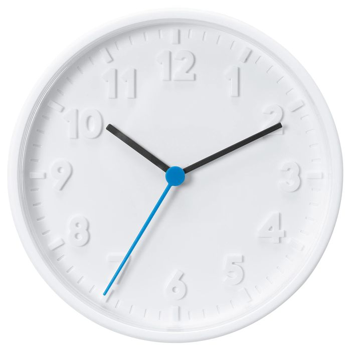 STOMMA Wall Clock, White20 Cm - Only £2!