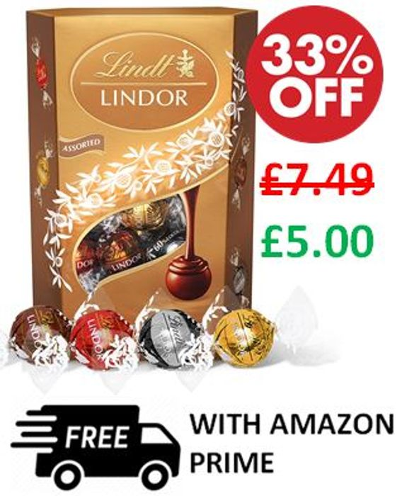 Lindt Lindor Assorted Chocolate Truffles 337 G