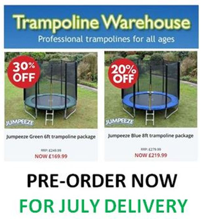 CHEAP! Trampoline Warehouse TRAMPOLINES